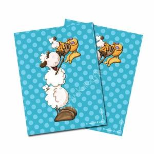 Carte postale mouton papa