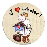 Modèle Mouton J'aime tricoter