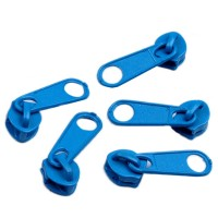 Curseur bleu pour Fermeture éclair vendue au mètre (pour maille de 3mm)