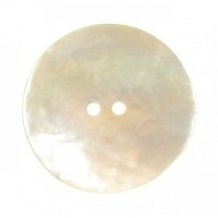Bouton Rond en Nacre, coloris naturel, 18mm