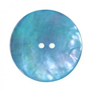 Bouton Rond en Nacre, coloris bleu irisé, 18mm