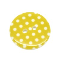 Bouton a pois 23mm Jaune Moutarde