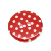**Bouton a pois 23mm Rouge * Second choix