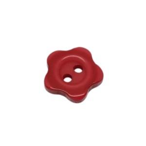 Bouton fleur rouge, 13mm