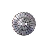 Bouton Nacre Gravé Rosace, coloris naturel, 18mm