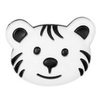 Bouton Tigre Blanc, 28mm