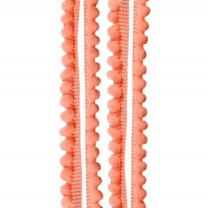 Galons minis Pompons, coloris Orange clair fluo