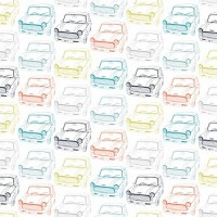 Tissu Voitures retro, collection Vroom, designer Dashwood Studio ( x 50cm)