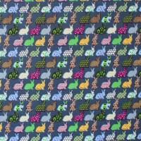 Tissu lapins sur fond orageux (x 50cm)