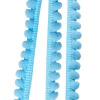 Galons minis Pompons, coloris Bleu ciel