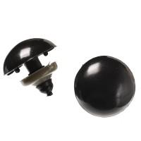 Yeux sécurité noir 19mm pour peluche (2 paires)