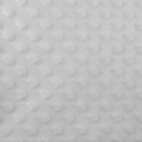 Minky Dot, coloris gris pâle (x 50 cm)