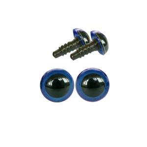 Yeux sécurité bleu 8mm pour peluche (2 paires)
