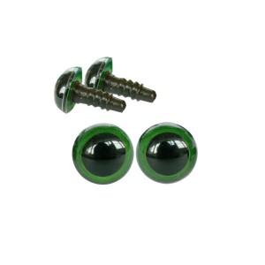 Yeux sécurité vert 8mm pour peluche (2 paires)