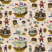 Tissu Peter Pan et Pirates, by Kokka ( x 25cm)