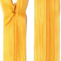 Fermeture éclair invisible 20 cm, coloris jaune