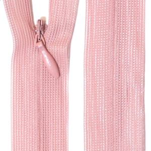 Fermeture éclair invisible 20 cm, coloris rose carnation