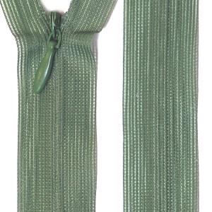 Fermeture éclair invisible 20 cm, coloris vert cerfeuil