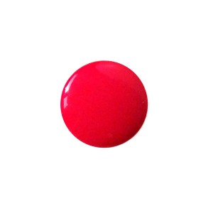 Bouton rond Smarties, coloris rouge, 15mm