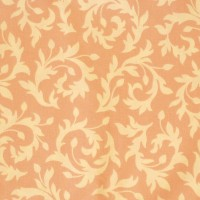 Tissu Swirly Buds coloris rose saumoné  designer Heather Bailey (x 50cm)