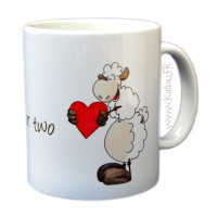 Mug mouton amoureux, tea for two