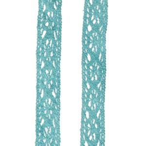 Dentelle coloris turquoise, largeur 14mm