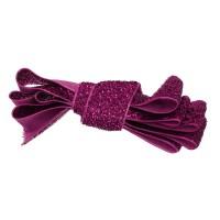 Ruban pailleté , coloris rose fushia, largeur 20mm