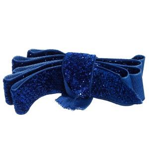 Ruban pailleté , coloris Bleu nuit, largeur 20mm