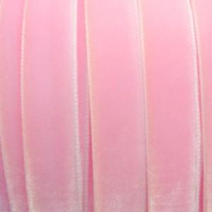 Ruban Velours Rose dragée, 16mm