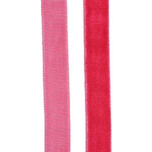 Ruban Velours Rose fushia, 10mm