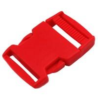 Boucle plastique type sac à dos, 38mm coloris Rouge