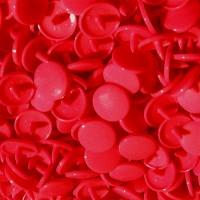Pression Kam rond, coloris Rouge  (lot de 10)