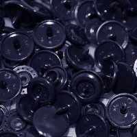 Pression Kam rond, coloris Bleu presque noir (lot de 10)