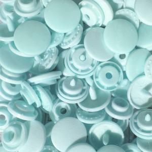 Pression Kam rond, coloris Bleu d'eau (lot de 10)