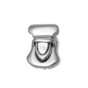 Petit Fermoir argenté façon cartable pour sac, modèle E, 26 mm x 22 mm