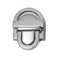 Grand Fermoir argenté façon cartable pour sac, modèle B, 45 mm x 34 mm