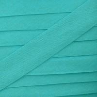 Biais vert céladon soutenu, pré-plié 8mm
