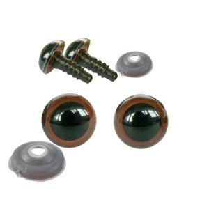 Yeux sécurité marron 10mm pour peluche (3 paires)