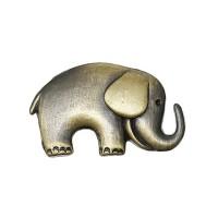 Bouton elephant 25mm x 16mm, métal coloris bronze