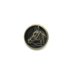 Bouton cheval 15mm, métal coloris bronze