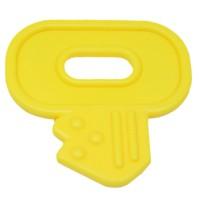 Clef de dentition à coudre, coloris jaune