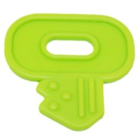 Clef de dentition à coudre, coloris vert anis