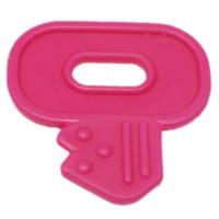 Clef de dentition à coudre, coloris rose fushia