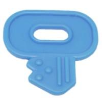 Clef de dentition à coudre, coloris bleu