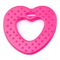 Coeur de dentition à coudre, coloris rose bubblegum