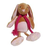 Kit de couture lapin Pablo caramel et rose, patron de peluche à coudre et mercerie inclus