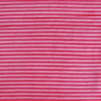 Velours de bambou rayé rose