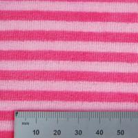 Velours de bambou rayé rose (x50cm)