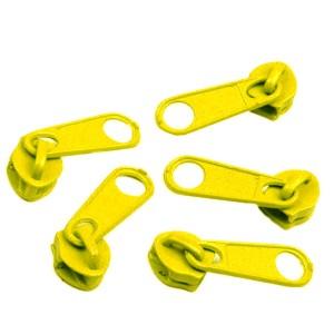 Curseur jaune pour Fermeture éclair vendue au mètre (pour maille de 3mm)