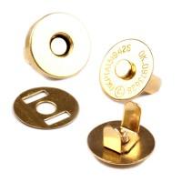 2 Petits Boutons aimantés dorés 15 mm